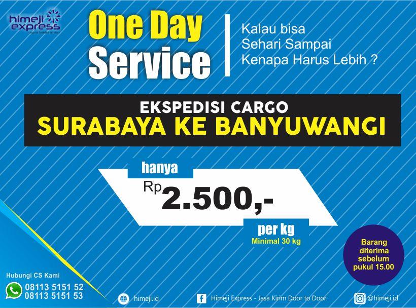 One Day Service Surabaya ke Jawa Timur