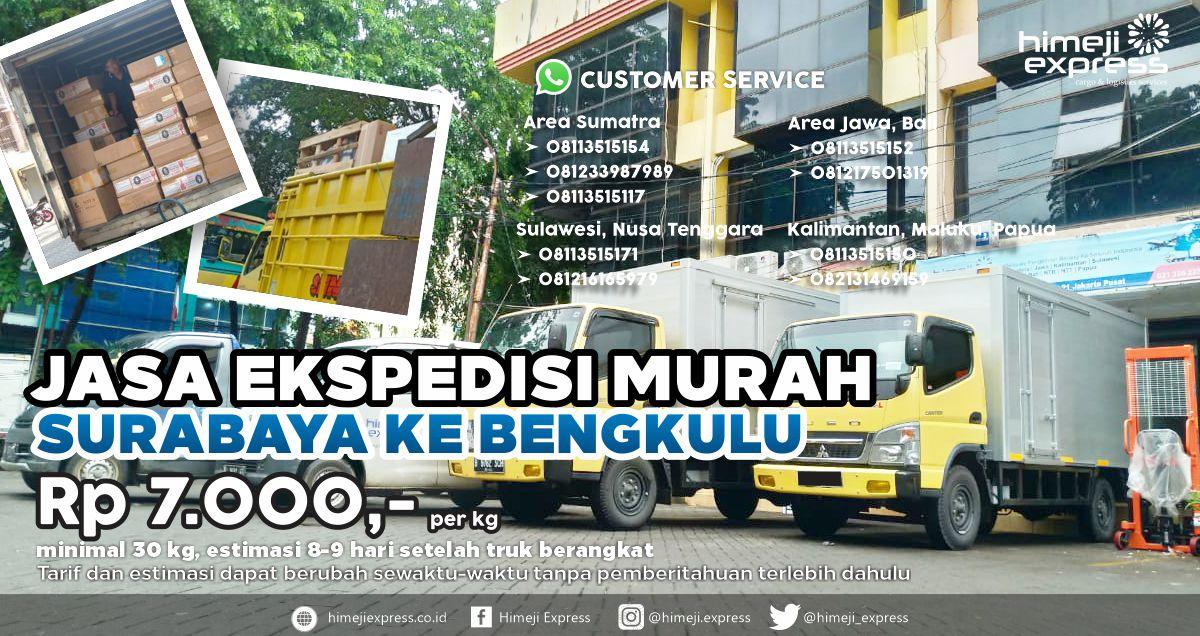 Jasa Ekspedisi Murah Surabaya Bengkulu