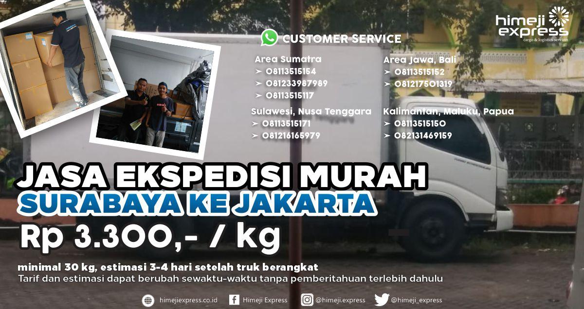 Jasa Ekspedisi Murah Surabaya Jakarta