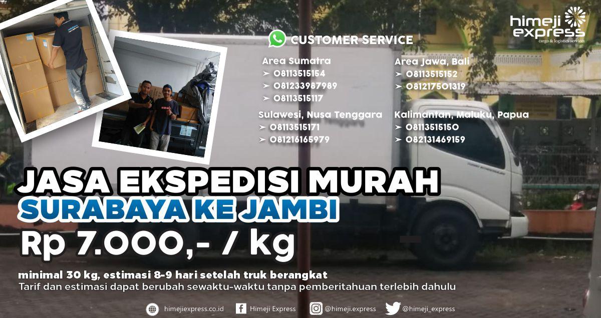 Jasa Ekspedisi Murah Surabaya Jambi