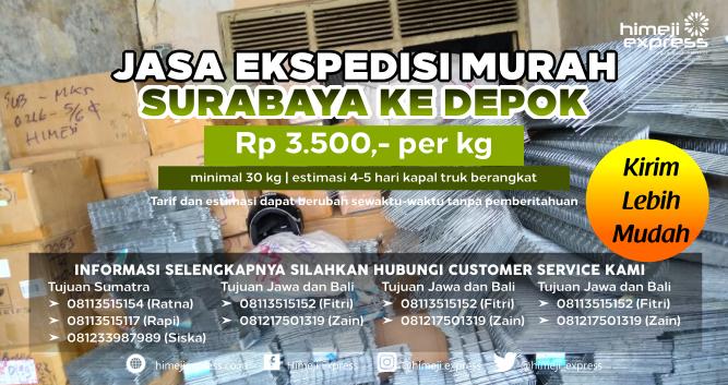 Jasa_Ekspedisi_Murah_Surabaya_ke_Depok