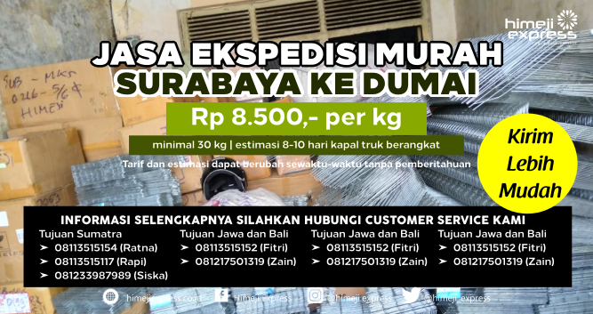 Jasa_Ekspedisi_Murah_Surabaya_ke_Dumai