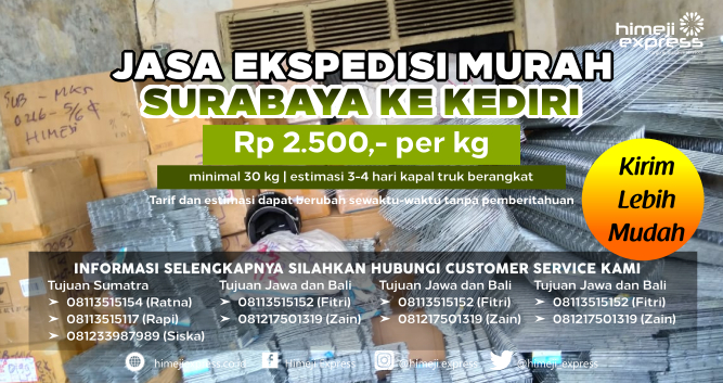 Jasa_Ekspedisi_Murah_Surabaya_ke_Kediri